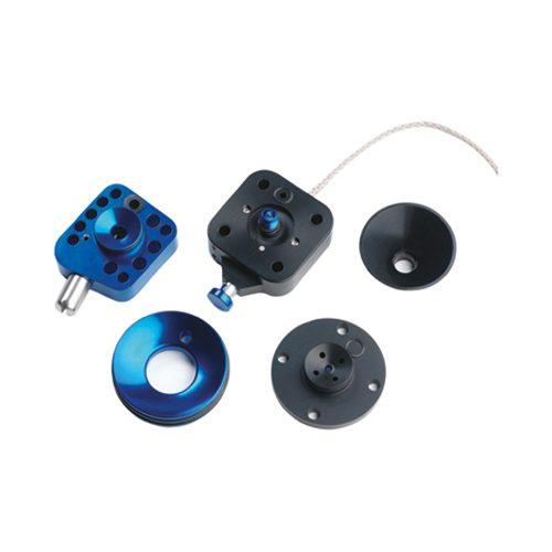 Deze afbeelding laat een alpha interlock zien in de kleur metallic blue
