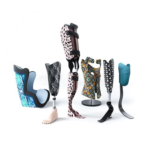 Deze afbeelding laat een gepersonaliseerde prosthetic and orthotic device zien